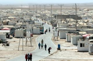 The Zaatari camp for Syrian refugees.