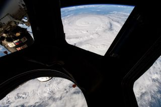 Hurricane Harvey seen from from the cupola module aboard the International Space Station.