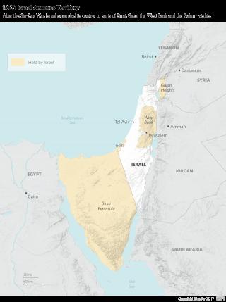 1967: Israel Annexes Territory