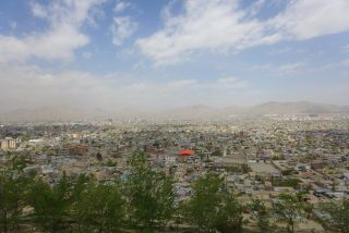 The city of Kabul stretches to the horizon.