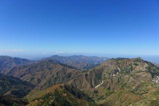 The Chaine de la Selle mountains screen off Haiti's southern coast.