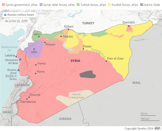 A map of who controls what territory in Syria
