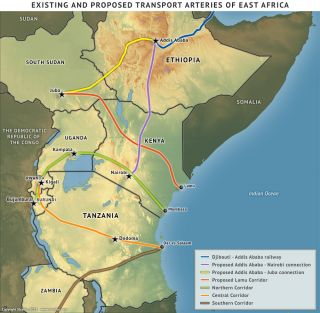 east africa road map East African Infrastructure Development Part 4 Pipelines east africa road map