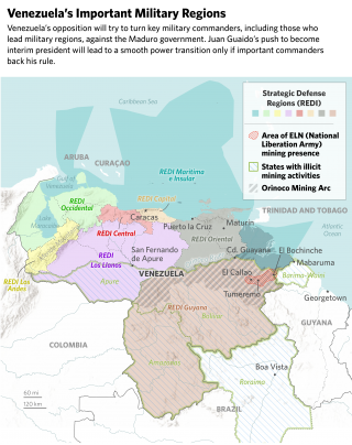 A map of Venezuela's military regions
