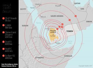 Houthi Missile Ranges