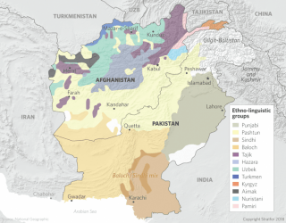Map of Ethnic and Linguistic Groups in Afghanistan and Pakistan