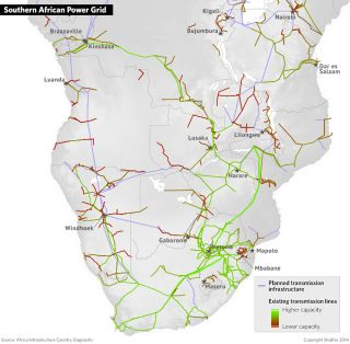 Power generation infrastructure geared to support mining operations was later linked to national power grids, enabling surplus generation to be more efficiently distributed. State support to electricity for industrial development in South Africa also extended to Rhodesia (now known as Zimbabwe) and Zambia.