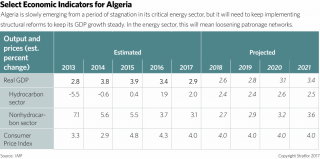 Algeria is slowly emerging from a period of stagnation in its critical energy sector, but it will need to keep implementing structural reforms to keep its GDP growth steady. In the energy sector, this will mean loosening patronage networks.