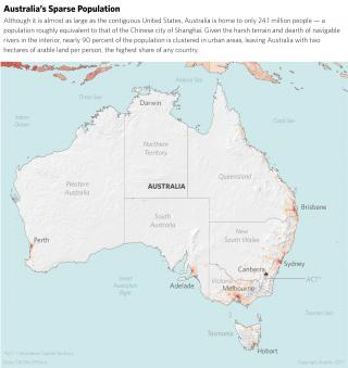 Population Density Map of Australia