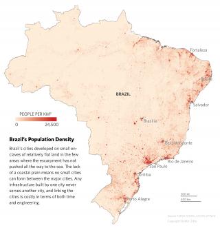 Population Density Map of Brazil