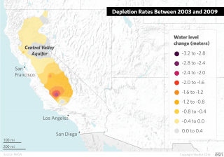 The largest source of groundwater in California is the Central Valley aquifer, which is divided into four different basins: the Sacramento Valley, the Delta and Eastside Streams, the San Joaquin Basin and the Tulare Basin.
