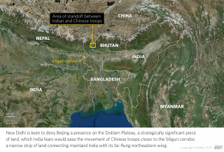 Area of Standoff Between Chinese and Indian Troops in Bhutan
