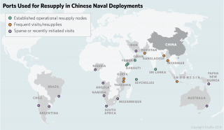 Ports used for resupply in Chinese naval deployments.