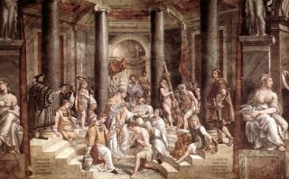 The baptism of Constantine