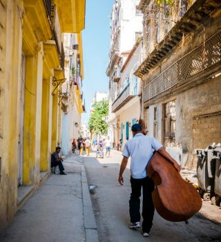 With numerous hotels and private homes for rent, Old Havana is teeming with tourists.