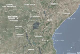 Lake Victoria Burundi Kenya Tanzania Uganda Rwanda