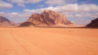 Wadi Rum, located south of Petra in Jordan's southernmost desert.
