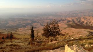View from Jordan's Mount Nebo looking toward Jericho in the Palestinian territories.