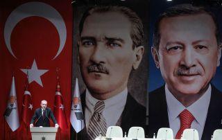 Turkish President Recep Tayyip Erdogan gives a speech on Jan. 26.