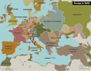 Map of 17th Century Europe