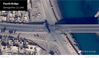 The bombings on the Alshohada, Fourth and Fifth bridges, which took place on Nov. 4 and Nov. 22, targeted the parts of the bridges on land rather than their main spans suspended over the water.