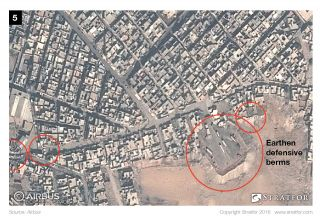 Though Mosul's sugar factory is still standing, its facilities seem to have already been struck by coalition airstrikes.