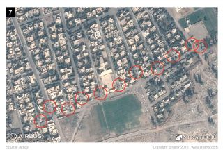 The Islamic State has placed concrete blocks -- perhaps portions of concrete walls -- and other rubble in the streets to prevent vehicles from navigating them.