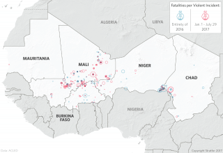 Violent Incidents in the Sahel