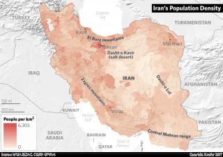 Iran's Population Density