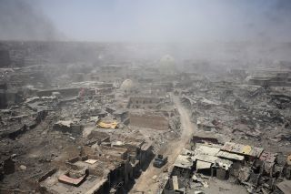 A view of the destruction wrought on Mosul's Old City, the final battleground in the campaign to rid the city of Islamic State presence.