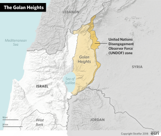 A map of the Golan Heights