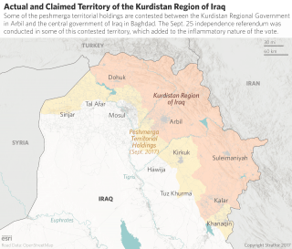 Actual and Claimed Territory of Iraqi Kurdistan