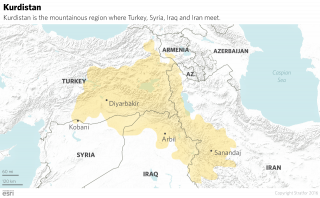 Kurdistan, the colloquial name given to the Kurds' historical homeland, is a landlocked region that lies at the crossroads of Turkey, Syria, Iraq and Iran.