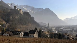 A picture of Vaduz Castle, the official residence of the prince of Liechtenstein.