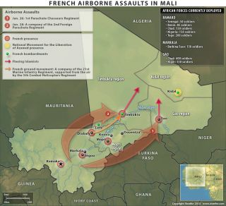 French Airborne Assaults in Mali