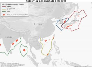 Methane Hydrate Reserves in East Asia