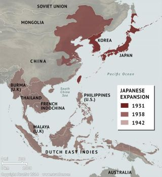 Japan's Territorial Expansion 1931-1942