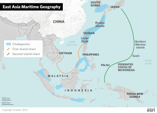 China needs to defend itself from hostile submarines. Its goals of gaining regional power while protecting the mainland require a maritime strategy in the Western Pacific, especially in the areas Chinese military planners call the two island chains. The first island chain encircles the Yellow Sea, East China Sea and South China Sea. The second stretches from Japan to Indonesia.