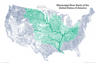 A map of the the Mississippi River Basin