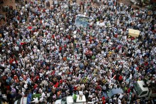 Protesters take part in a rally organized by the February 20 opposition movement in Casablanca July 10, 2011.
