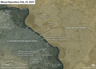 Mosul Operations Map