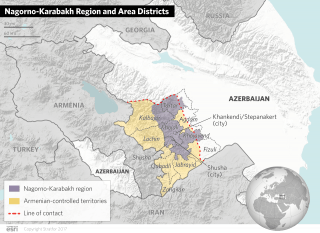Nagorno-Karabakh Region and Area Districts