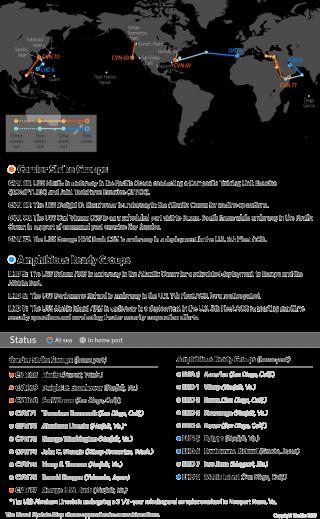 U.S. Naval Update Map: March 16, 2017