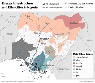 A graphic showing Nigeria's energy infrastructure