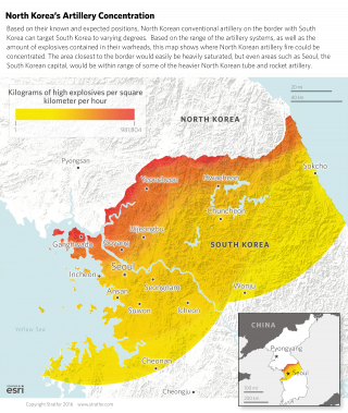 North Korea's Artillery Concentration