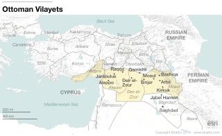 Ottoman Vilayets Map