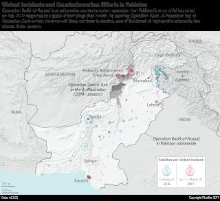 Pakistan militancy map