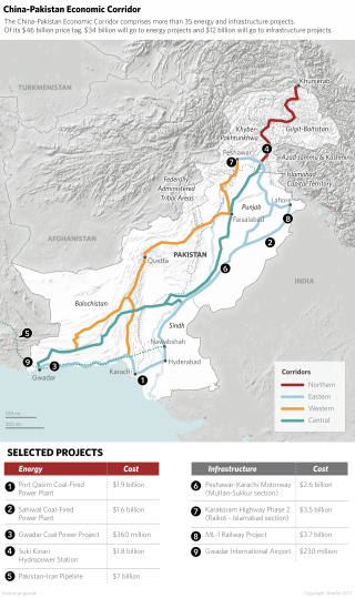 CPEC Map and China's Infrastructure Projects in Pakistan