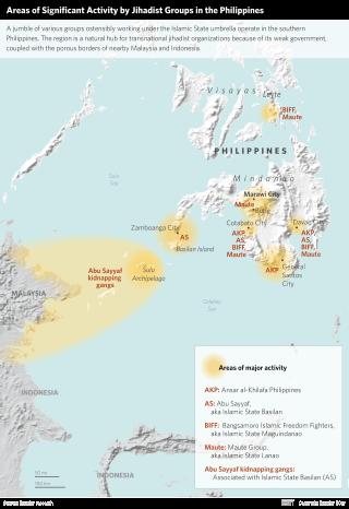 Map of Terrorist Groups in Mindanao