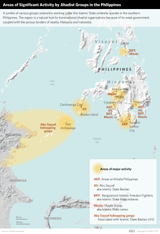 Areas of Significant Activity by Jihadist Groups in the Philippines